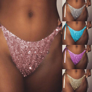 Sexy Sequin G-string Panties - High Quality Seamless Thongs - Designer Womens Leggings. Athletic Yoga Pants - TopRank Shop
