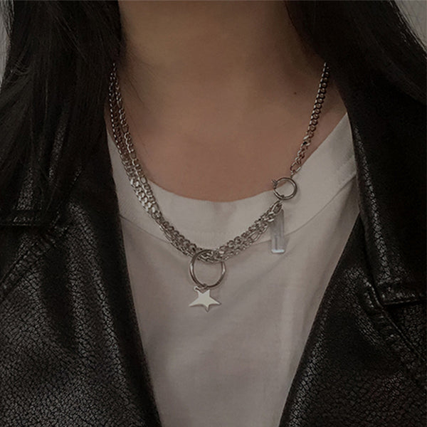 Star Ring Pendant Necklace