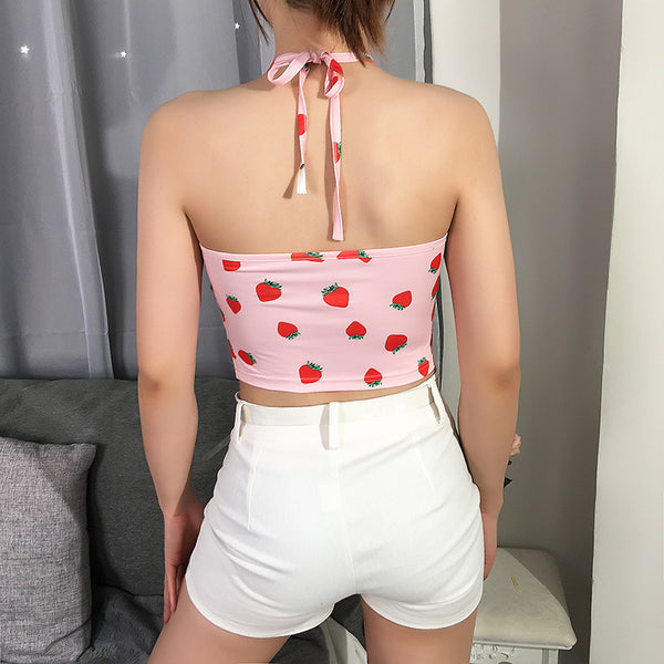 Strawberry Print Tank Top