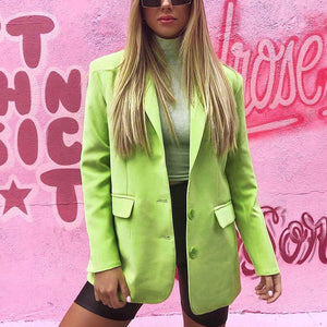 Sexy Candy Color Suit Jacket