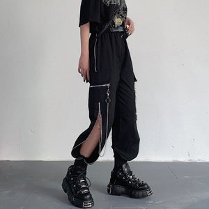Zipper Chains Street Pants