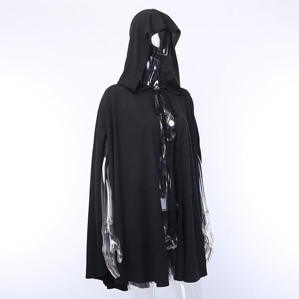 Gothic Hooded Trench Coat Cloak