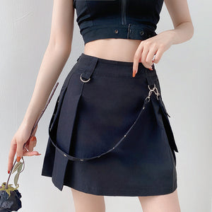 Diablo Streamer Irregular Word Skirt