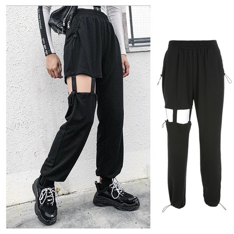 Irregular Hollow Casual Pants