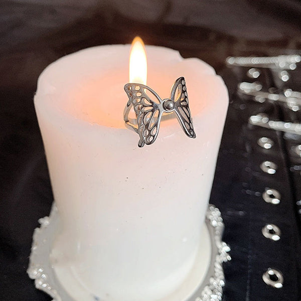 Butterfly Opening Adjustable Ring