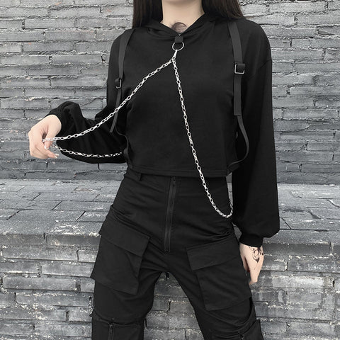 Punk Metal Chain Strap Top