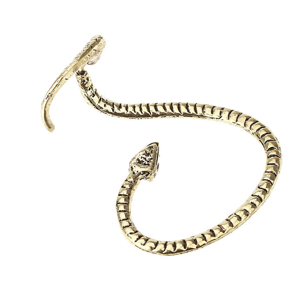 Exaggerated Winding Snake Earrings