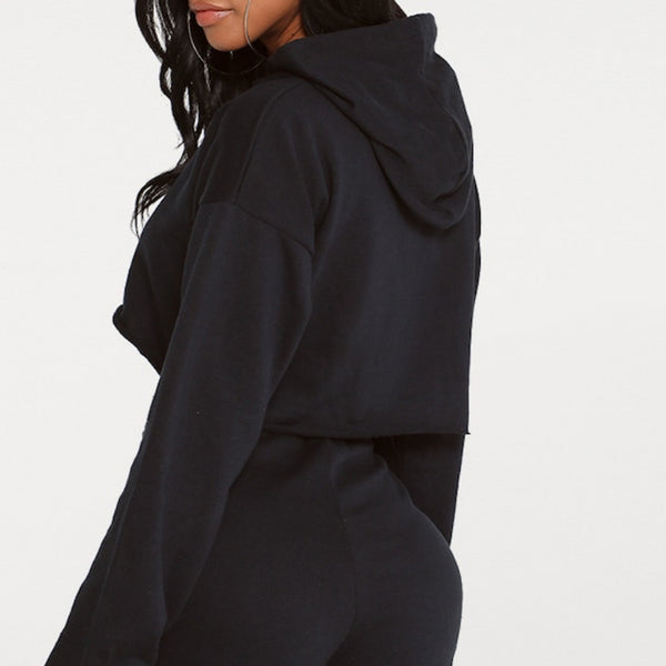 Sexy Cutout Crop Hoodie
