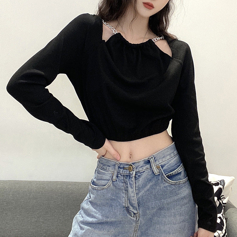 Splice  Chain Cutouts Crop Top