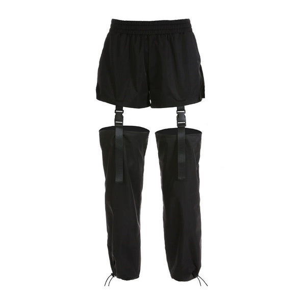 Adjustable Cutouts Drawstring Pants