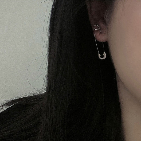 Gothic Unique Paperclip Earrings