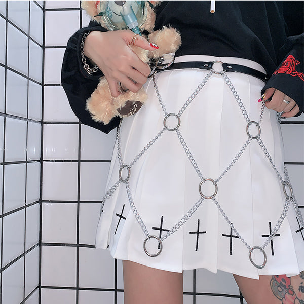 Gothic Adjustable Metal Chain Belt