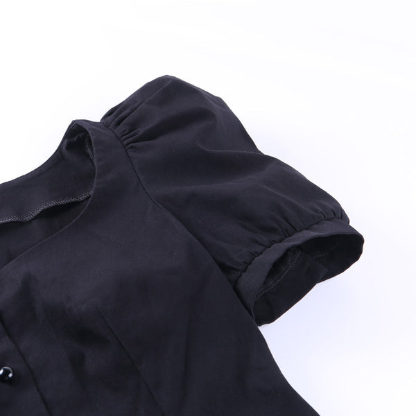 Palace Style Retro Puff Sleeve Shirt