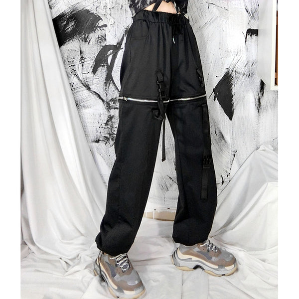 Detachable Zipper Street Casual Pants