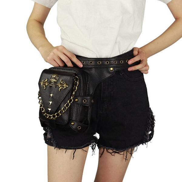 Multifunctional Punk Locomotive Waist Bag