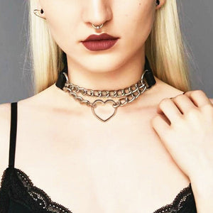 Punk Style Heart-Shaped Choker