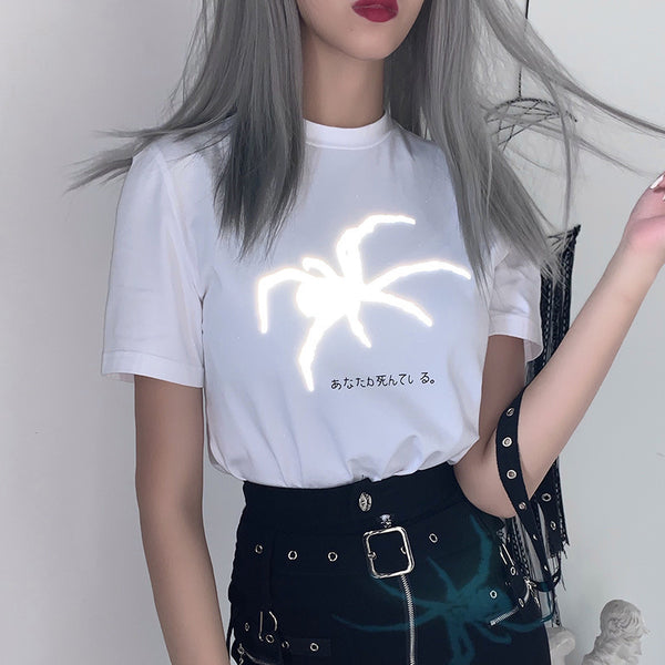 Fashion Reflective Print T-shirt