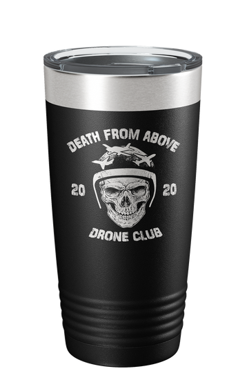 Death From Above Laser Etched Tumbler - Patriot Wear