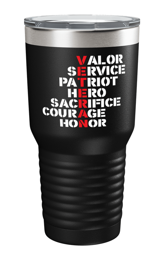 Veteran Acronym Color Printed Tumbler - Patriot Wear