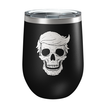 Skull Laser Etched Wine Cup - Patriot Wear