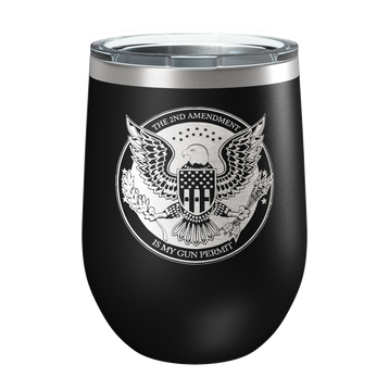 Gun Permit Laser Etched Wine Cup - Patriot Wear