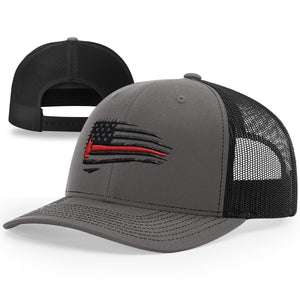 Red Line Flag Hat - Patriot Wear