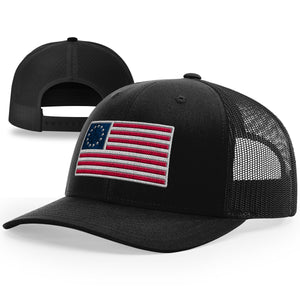 Old Betsy Ross Flag Hat - Patriot Wear