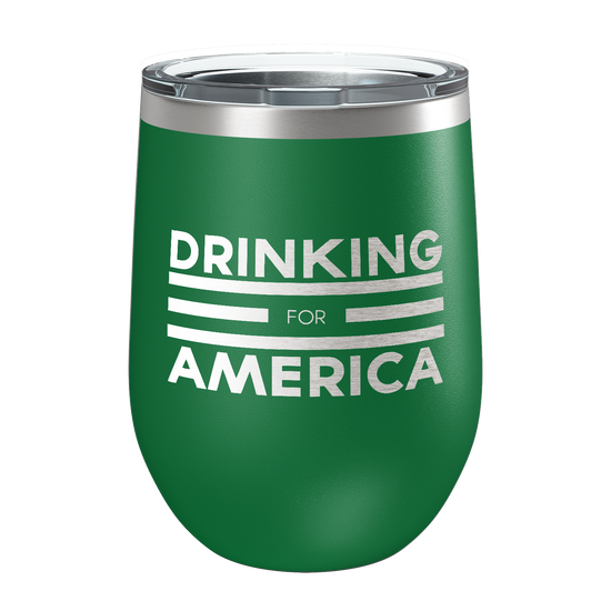 Drinking For America Laser Etched Wine Cup