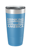 Drinking for America Laser Etched Tumbler