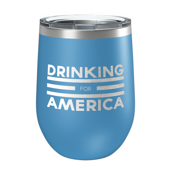 Drinking For America Laser Etched Wine Cup - Patriot Wear