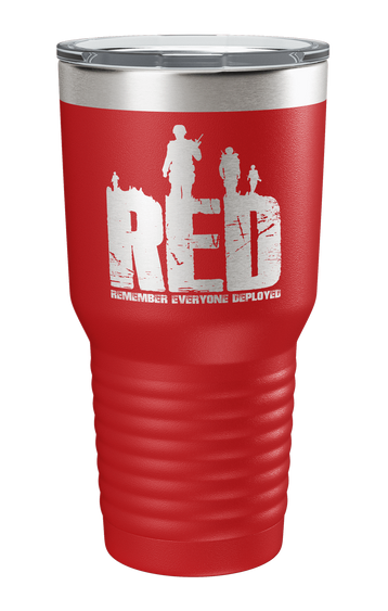 Remember Everyone Deployed v2 Laser Etched Tumbler
