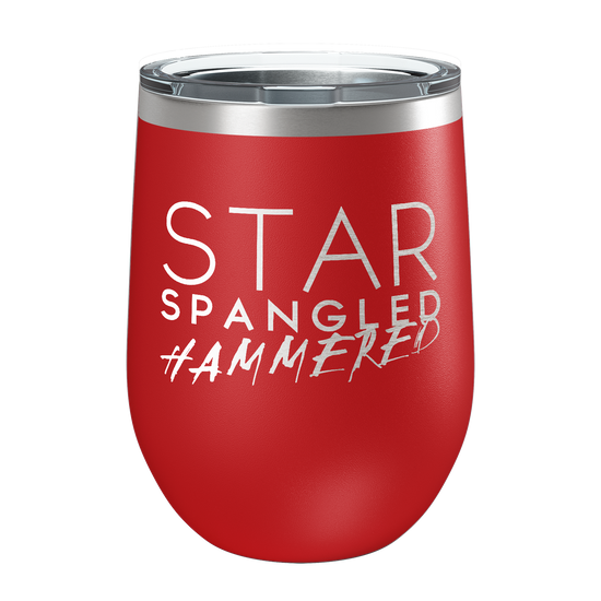 Star Spangled Hammered Laser Etched Wine Cup - Patriot Wear