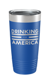 Drinking for America Laser Etched Tumbler - Patriot Wear