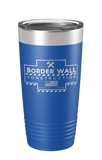 Border Wall Construction Laser Etched Tumbler