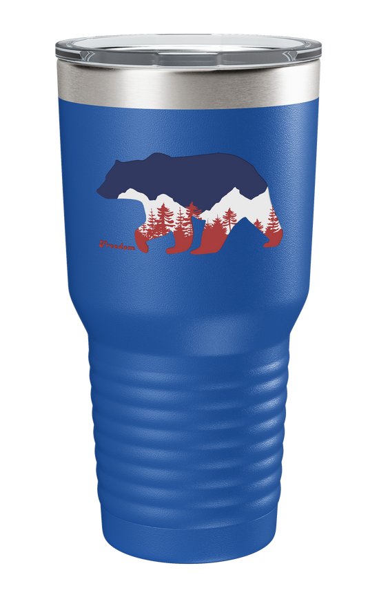 Freedom Bear Color Printed Tumbler - Patriot Wear