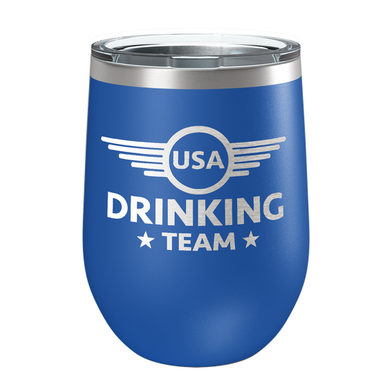 USA Drinking Team Laser Etched Wine Cup - Patriot Wear