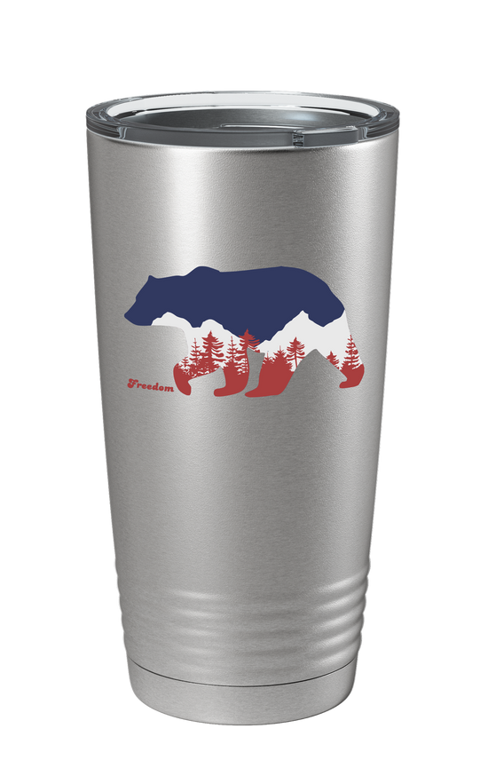 Freedom Bear Color Printed Tumbler