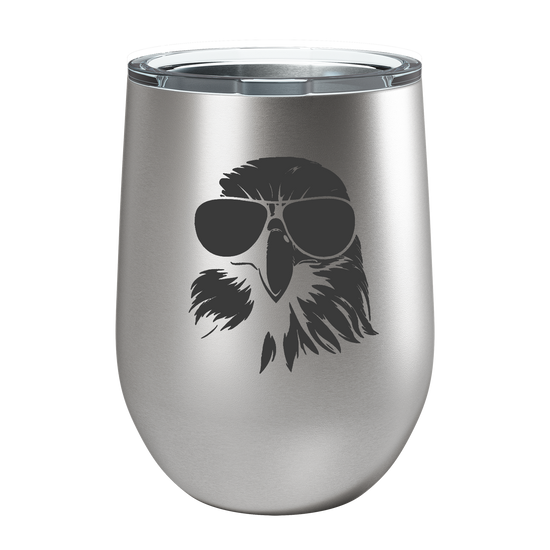 Eagle Laser Etched Wine Cup