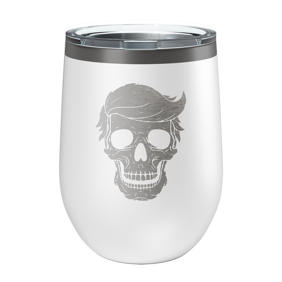 Skull Laser Etched Wine Cup