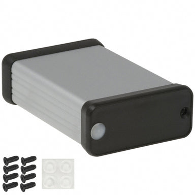 80 x 54 x 23mm Extruded Anodized Aluminium IP54 enclosure with plastic end plate