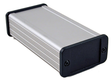 120 x 59 x 31mm Extruded Aluminium IP54 EMC screened enclosure with metal plate