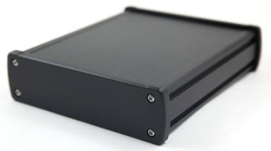 120 x 84 x 44mm Extruded Aluminium IP65 Anodised  enclosure with metal end plate