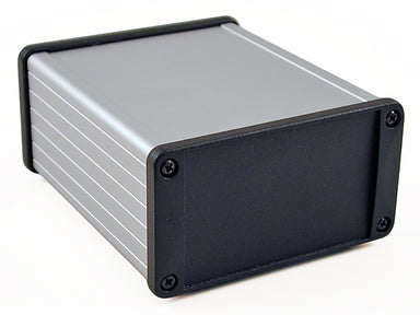 120 x 104 x 55mm Extruded Aluminium IP54 EMC screened enclosure with metal plate
