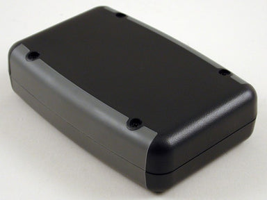 117 x 79 x 25mm ABS IP65 black hand held enclosure