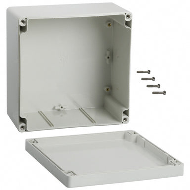 160 x 160 x 90mm ABS IP66 grey enclosure