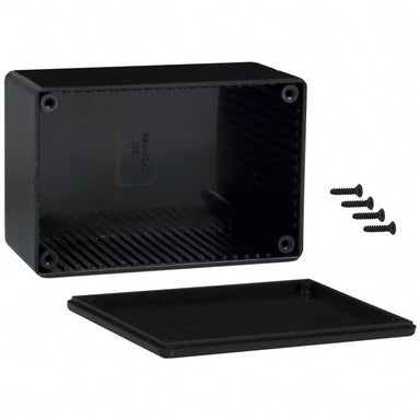 120 x 80 x 55mm ABS black plastic enclosure