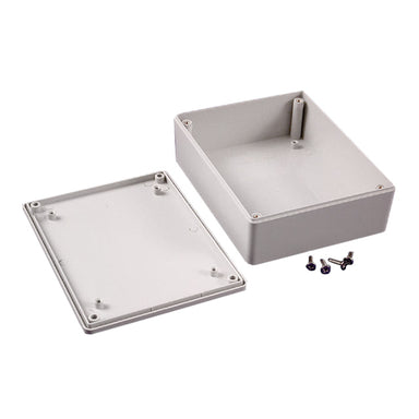 121 x 94 x 35mm FRABS  IP54 grey enclosure with stand offs