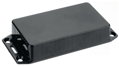 165 x 71 x 25mm FRABS black plastic enclosure flanged lid