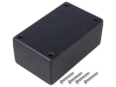 105 x 66 x 33mm FRABS IP65 black plastic enclosure thick wall
