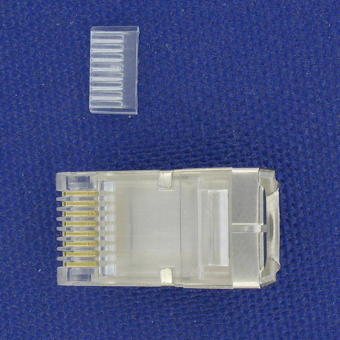 Shielded RJ45 plug CAT5e for field install kits